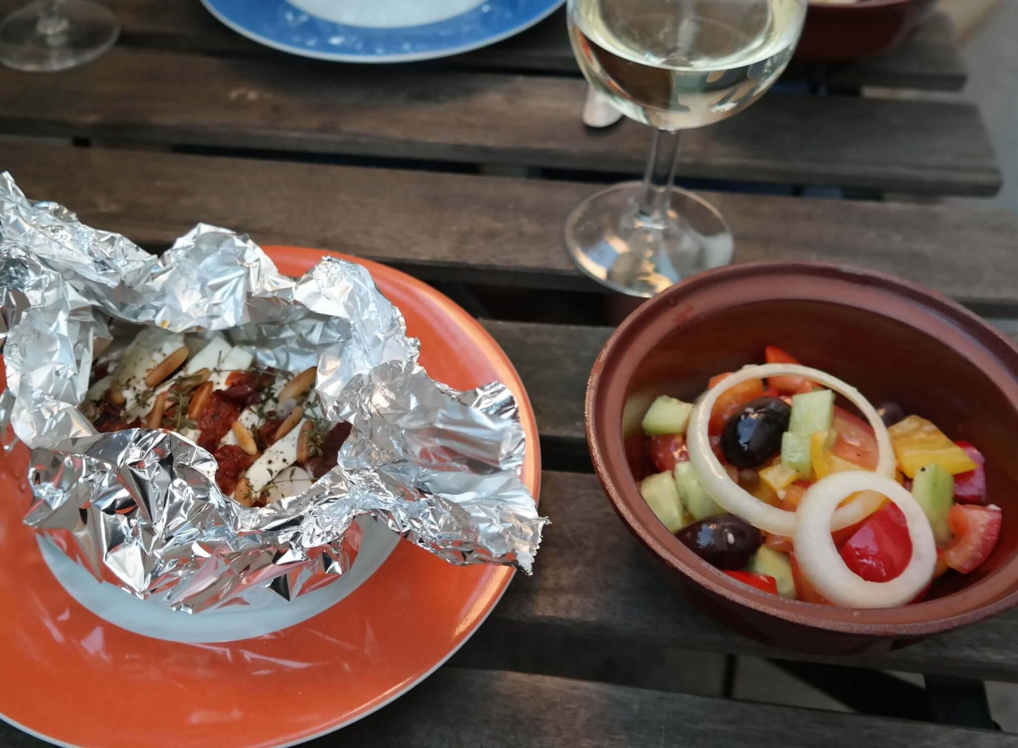 Fetapäckchen mit Salat - Lifestyle Blog
