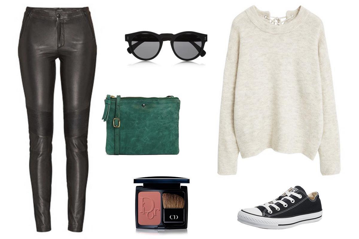 Outfit Inspiration // Lederhose und Strickpullover