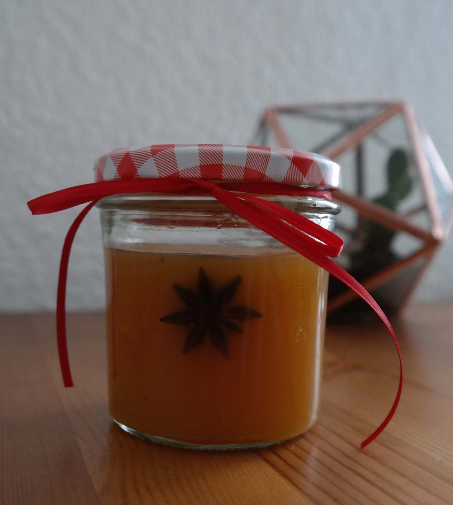 Detailfoto selbstgemachtes Orangenpunsch-Gelée