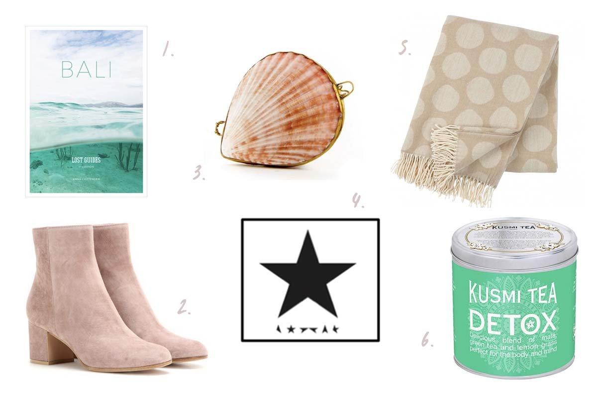 Collage für Shopping-Wunschliste im Januar