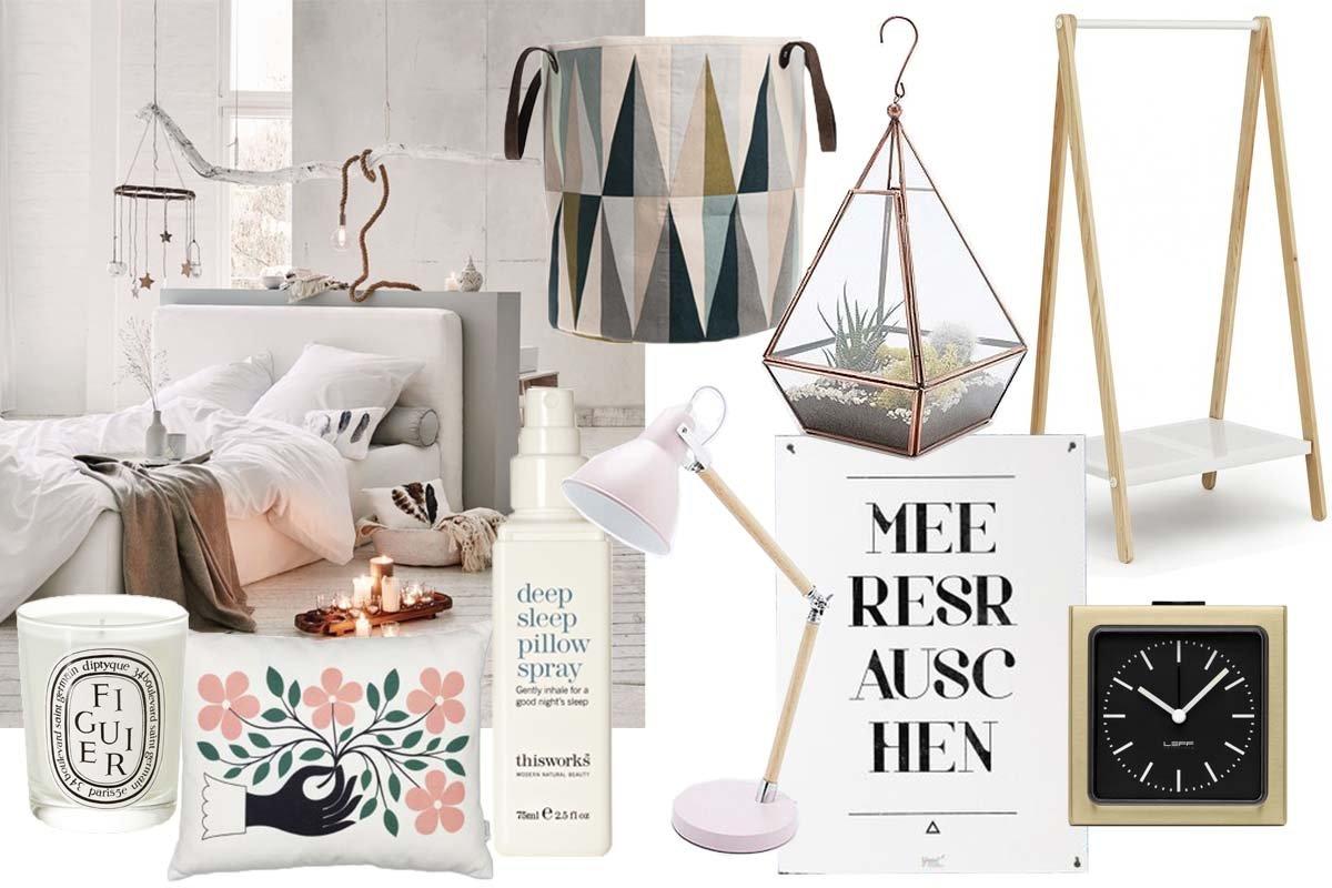 Collage Shopping für Schlafzimmer