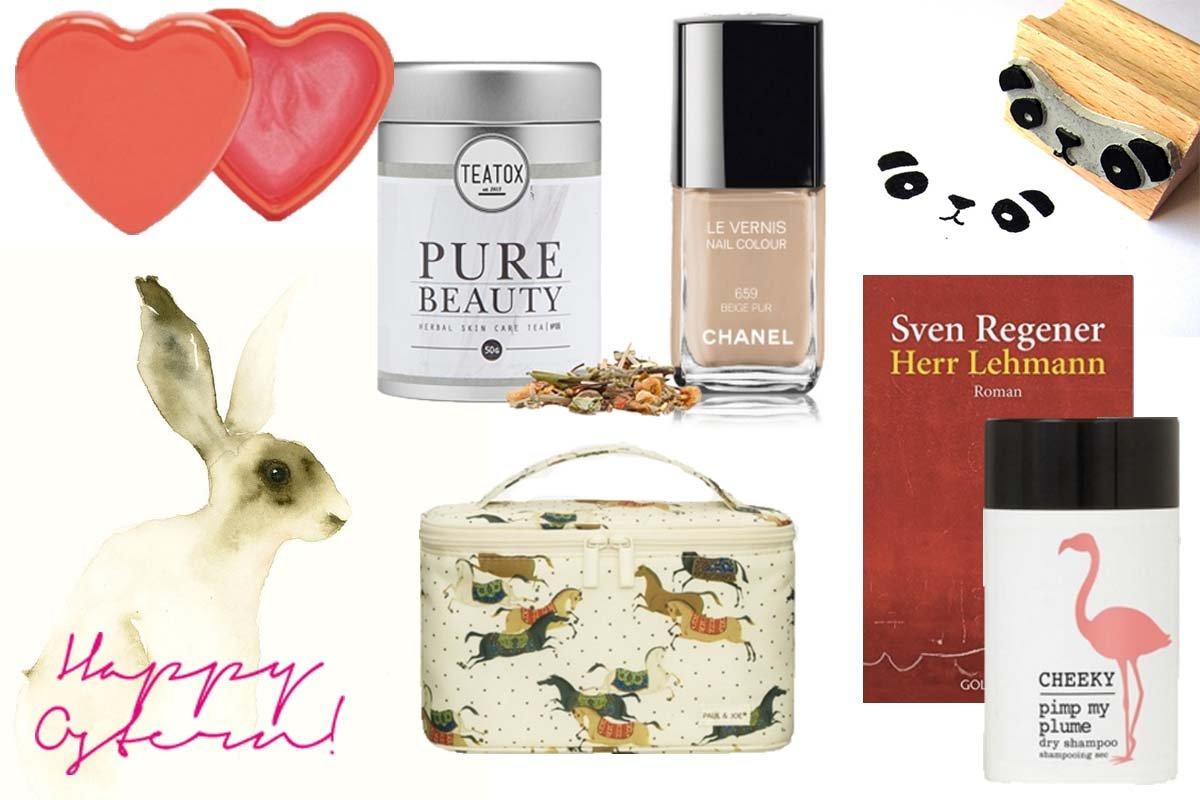 Collage mit Geschenkideen zu Ostern