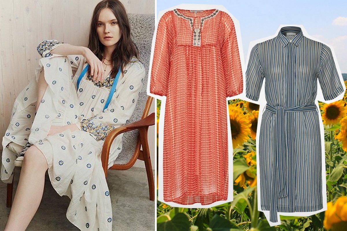 Collage mit Sommerkleidern