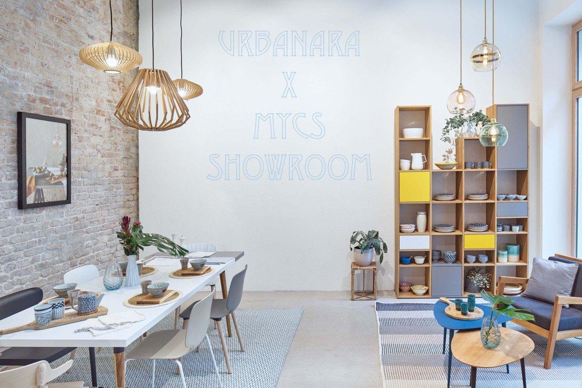 Teaserbild des Showrooms von Urbanara und Mycs in Berlin