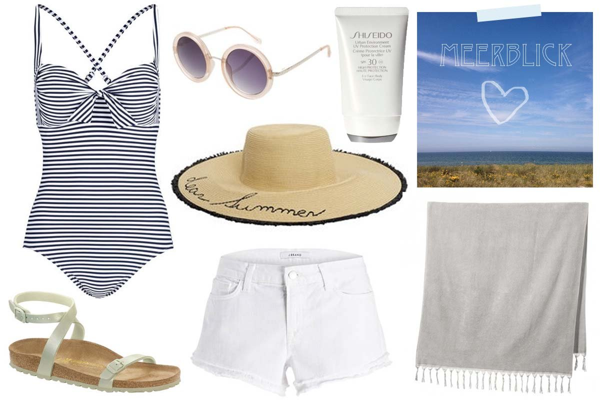 Collage Outfit Inspiration für Strand