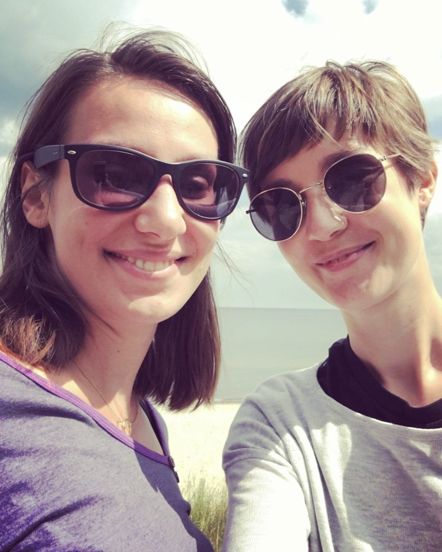Zwei Freundinnen auf Usedom