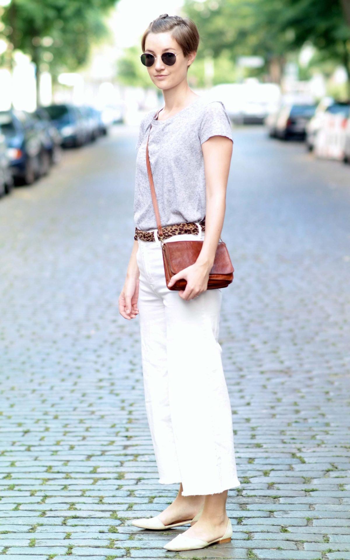 Outfit mit weißen Culottes