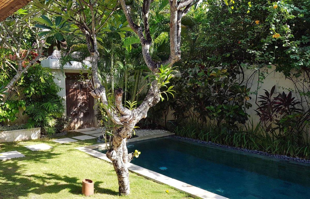 Garten und Pool der Villa Bali Asri