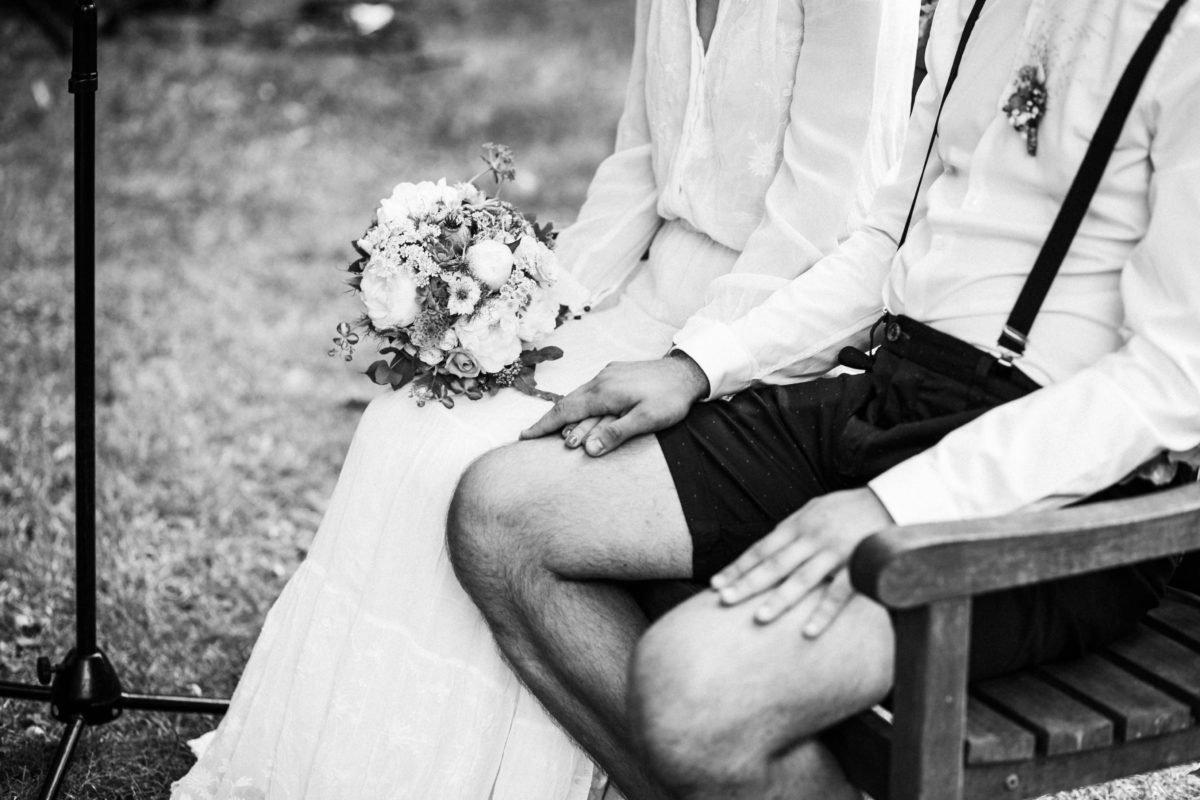 Brautpaar bei der Trauung