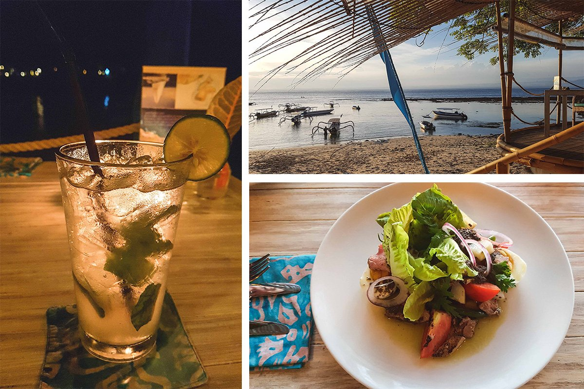 Collage von Hai Bar auf Nusa Lembongan