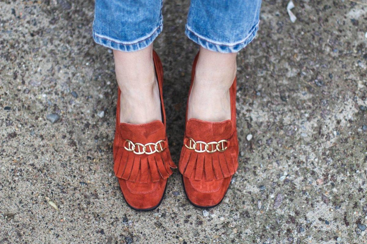 Rote Loafer von Kauf dich Glücklich