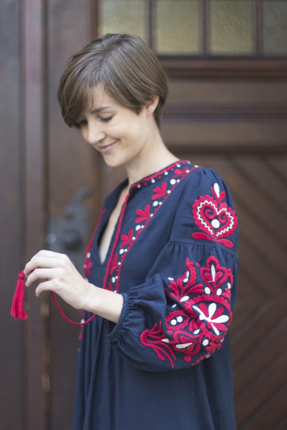 Porträt mit Kleid von Zara