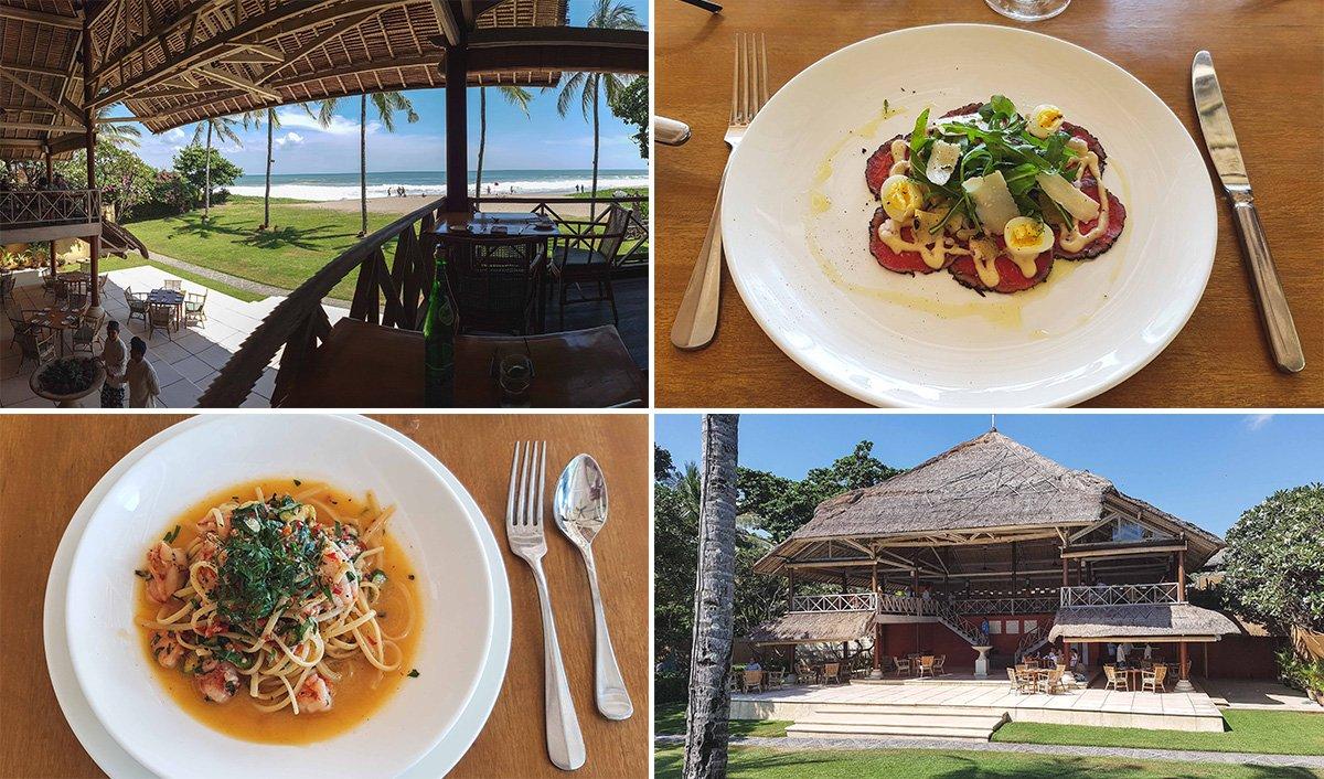 Collage vom Restaurant Lucciola in Seminyak auf Bali
