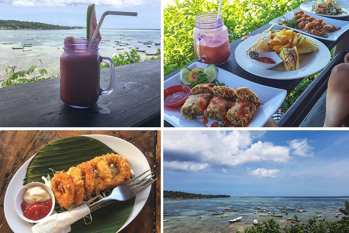 Fotocollage von Warung Mamma Mias auf Nusa Lembongan