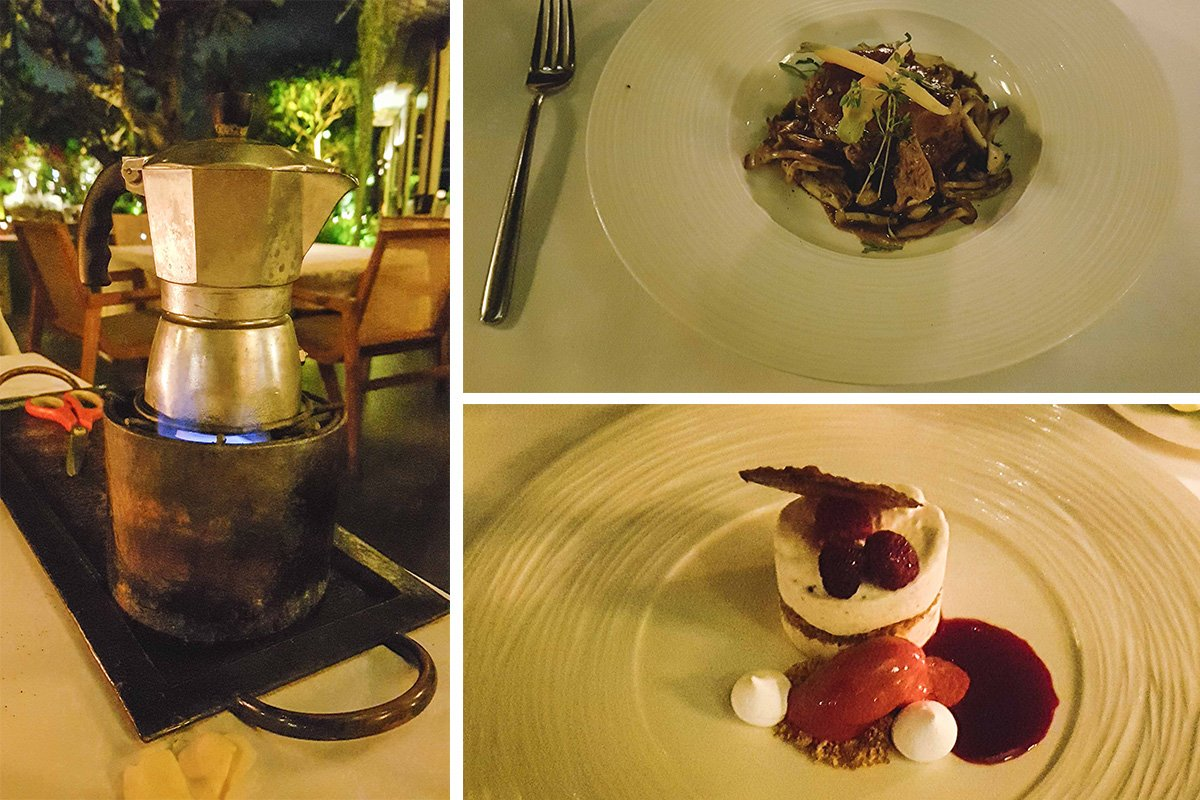 Collage mit Dinner in Metis in Seminyak