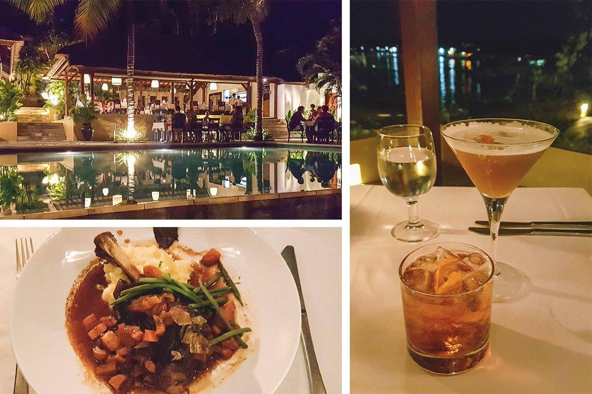 Collage von Restaurant Muntings auf Nusa Lembongan