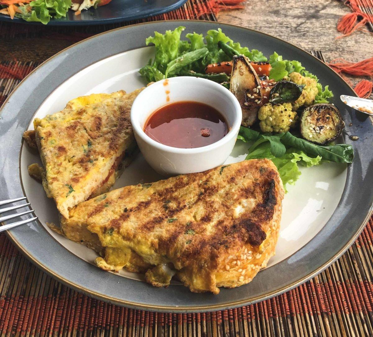 Essen im Sari Organic in Ubud