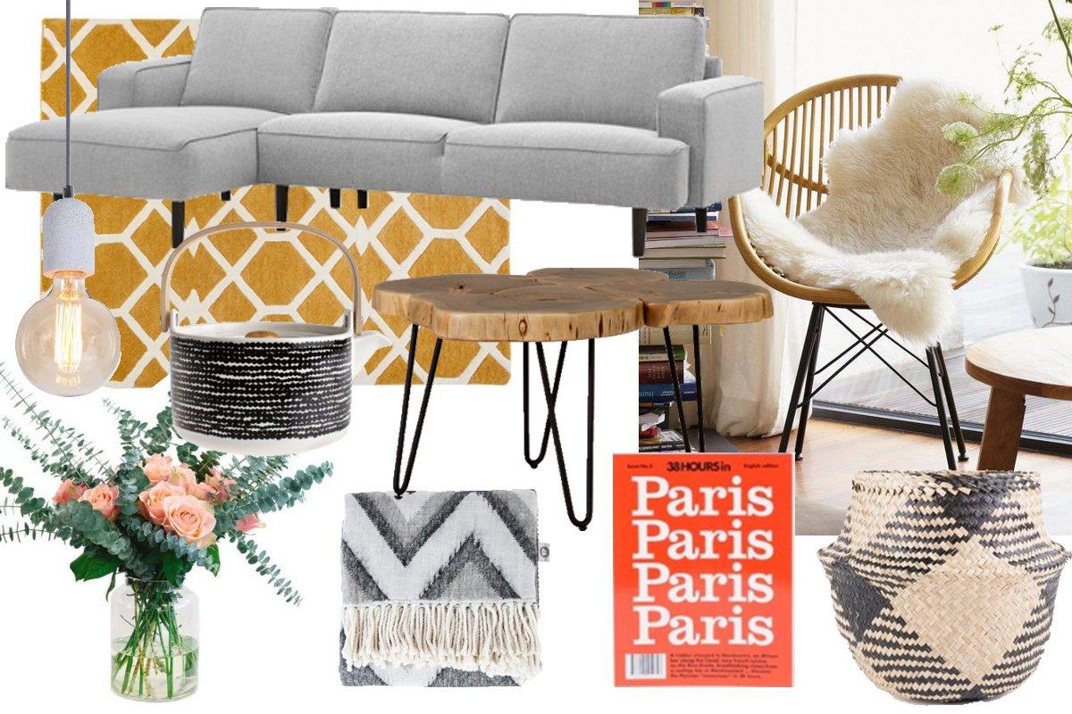 Collage mit Interior für den Herbst