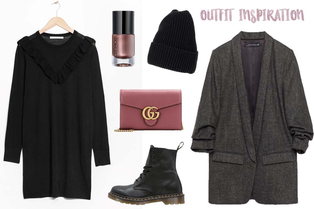 Collage mit Outfit für Dr. Martens Stiefel