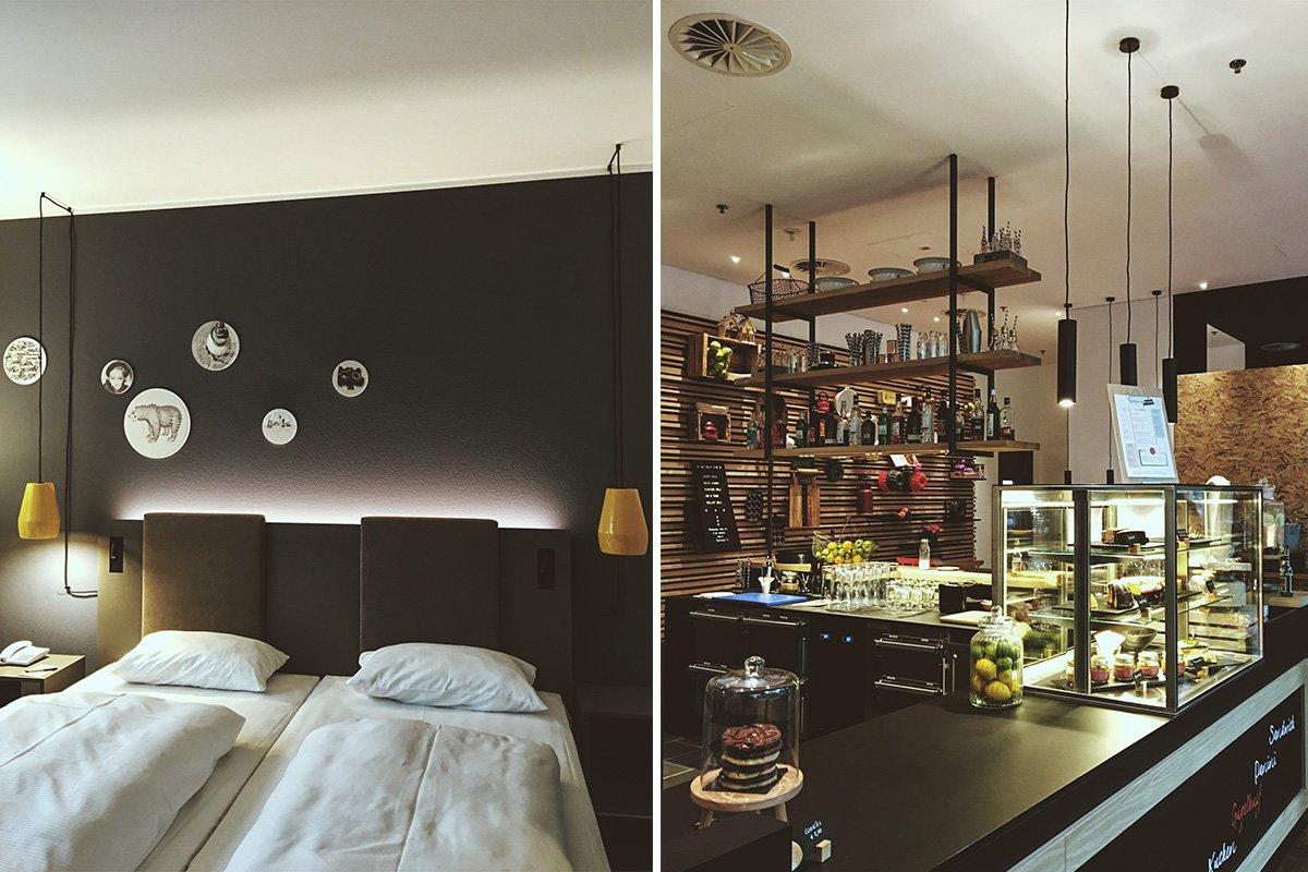 Zimmer und Deli des Vienna House Easy Hotels in Berlin