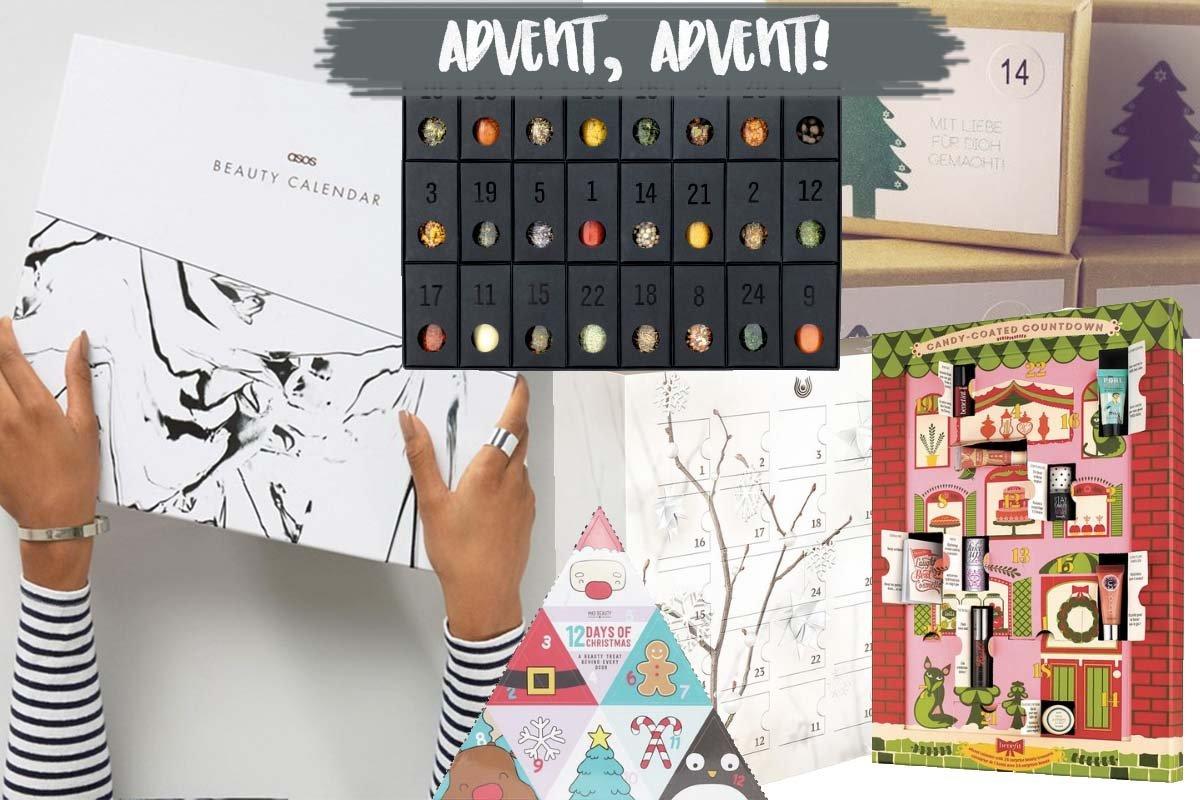 Collage mit Adventskalendern