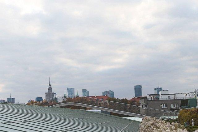 Ausblick auf die Skyline von Warschau