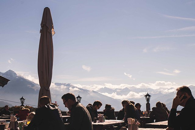 Ausblick von den Sonnerbgstuben in Kitzbühel