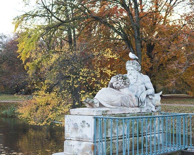 Statue im Lazienki Park Warschau