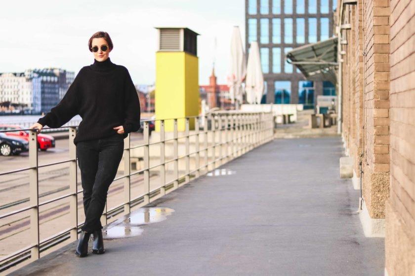 Outfit ganz in Schwarz