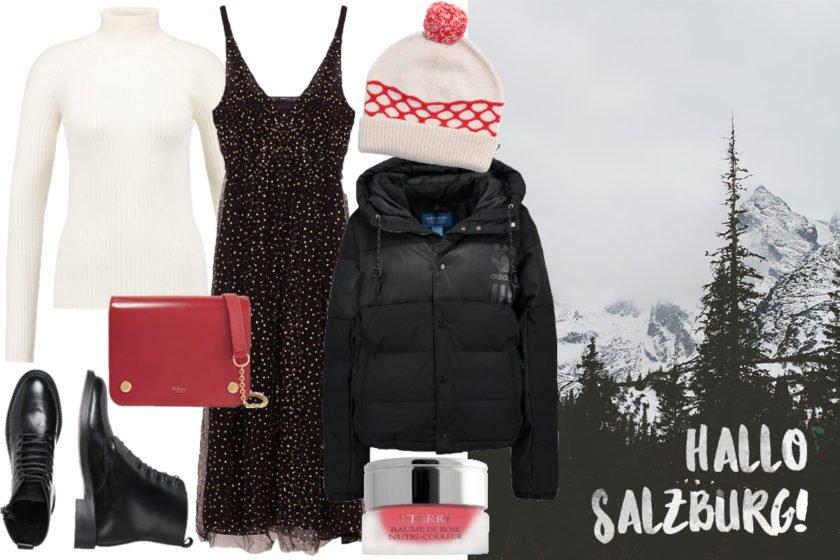 Collage mit Outfit Inspiration für Salzburg