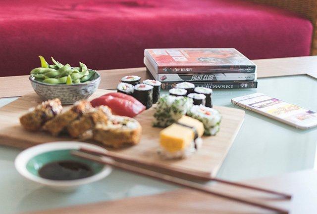 Sushi und DVDs