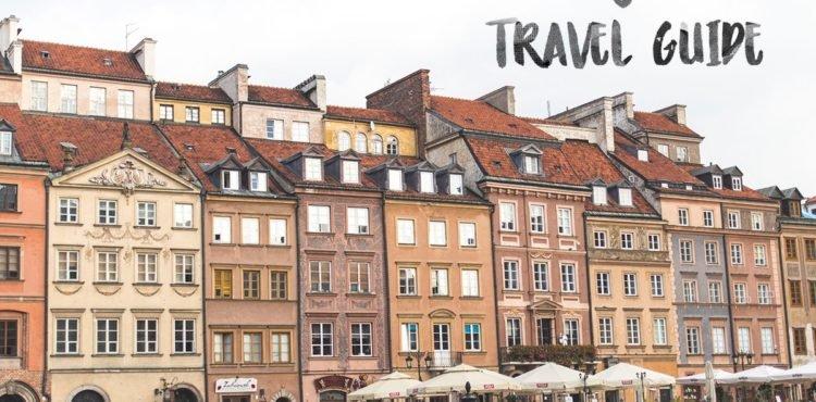 Häuserfront in Warschauer Altstadt