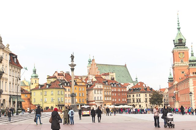 Schlossplatz in der Altstadt Warschau