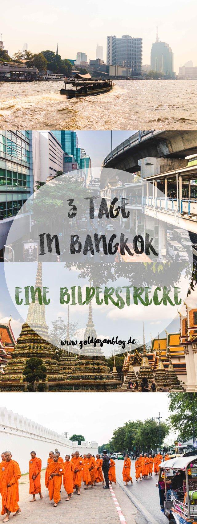 Collage mit Bilderstrecke aus Bangkok