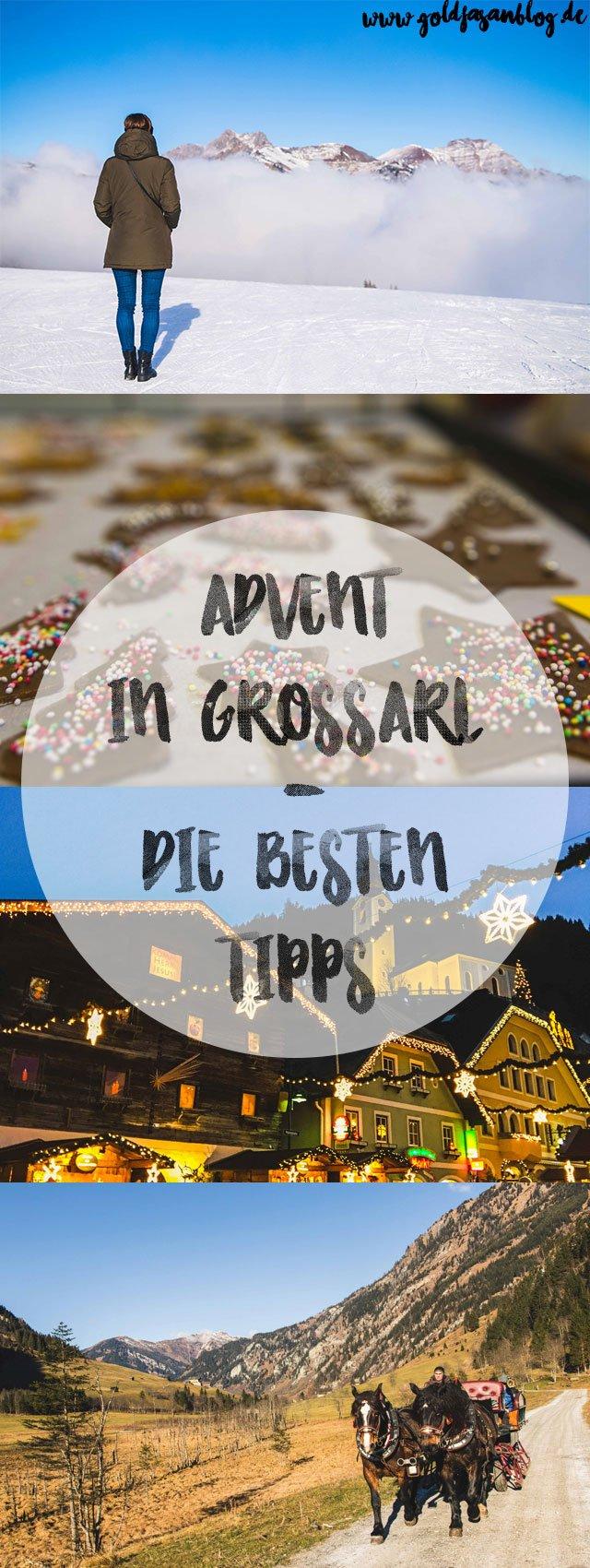 Collage mit Tipps für Großarl im Advent