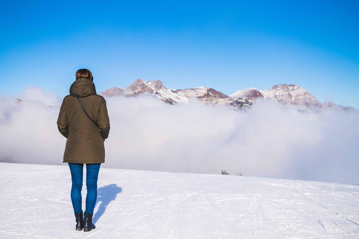 Blick in die Wolken am Kreuzkogel