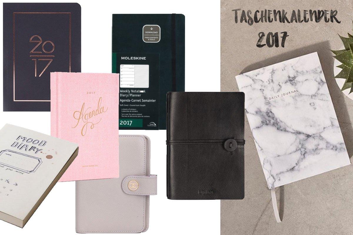 Teaserbild mit den schönsten Taschenkalendern für 2017