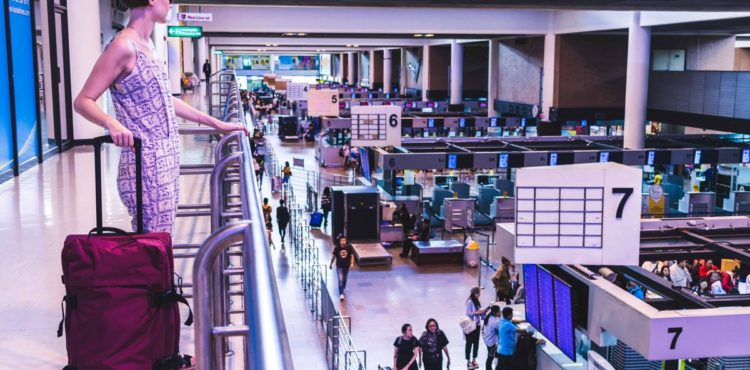 Innenansicht Flughafen Bangkok