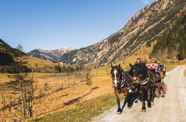 Pferdekutsche im Nationalpark Hohe Tauern