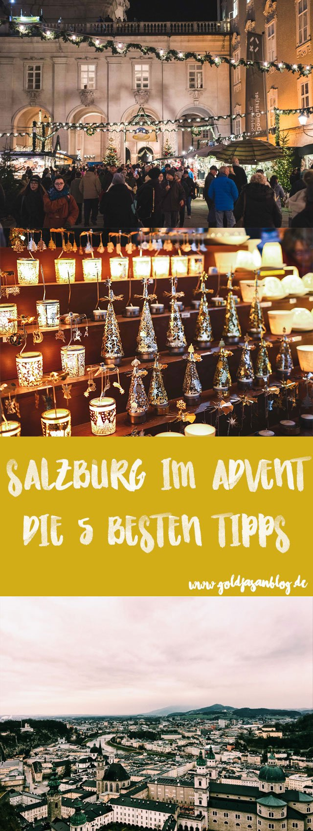 Collage mit Tipps für Advent in Salzburg