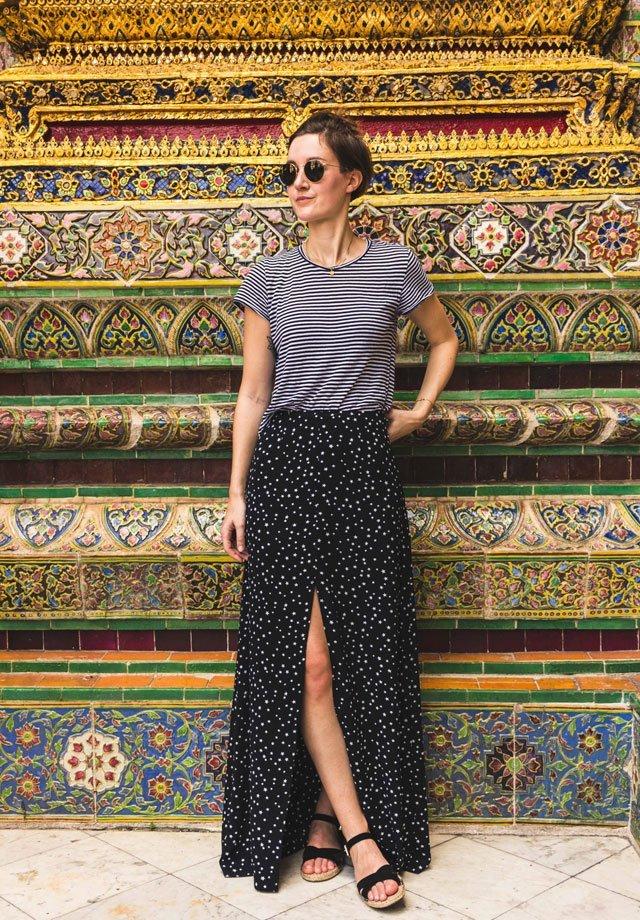 Outfit im Wat Phra Kaeo Tempel in Bangkok