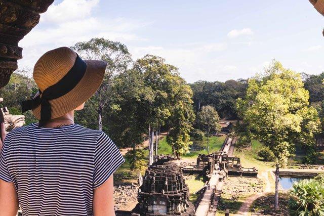 Aussicht am Bayon Tempel in Angkor Wat