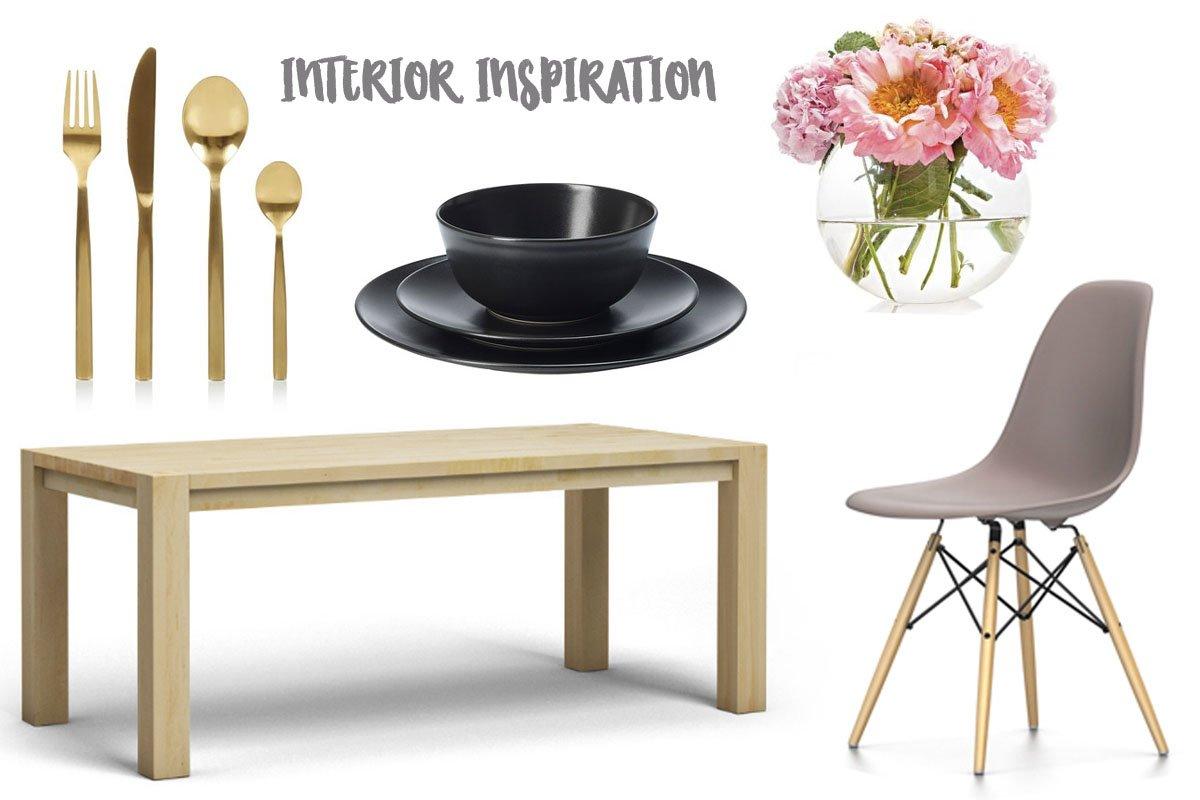 Collage mit Produkten für das Esszimmer