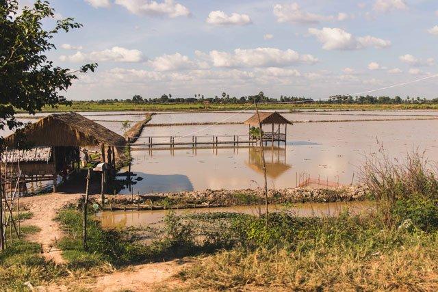 Hütte in Kambodscha