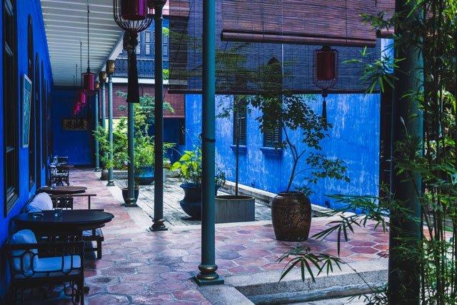 Innenhof vom Cheong Fatt Tze Blue Mansion Hotel