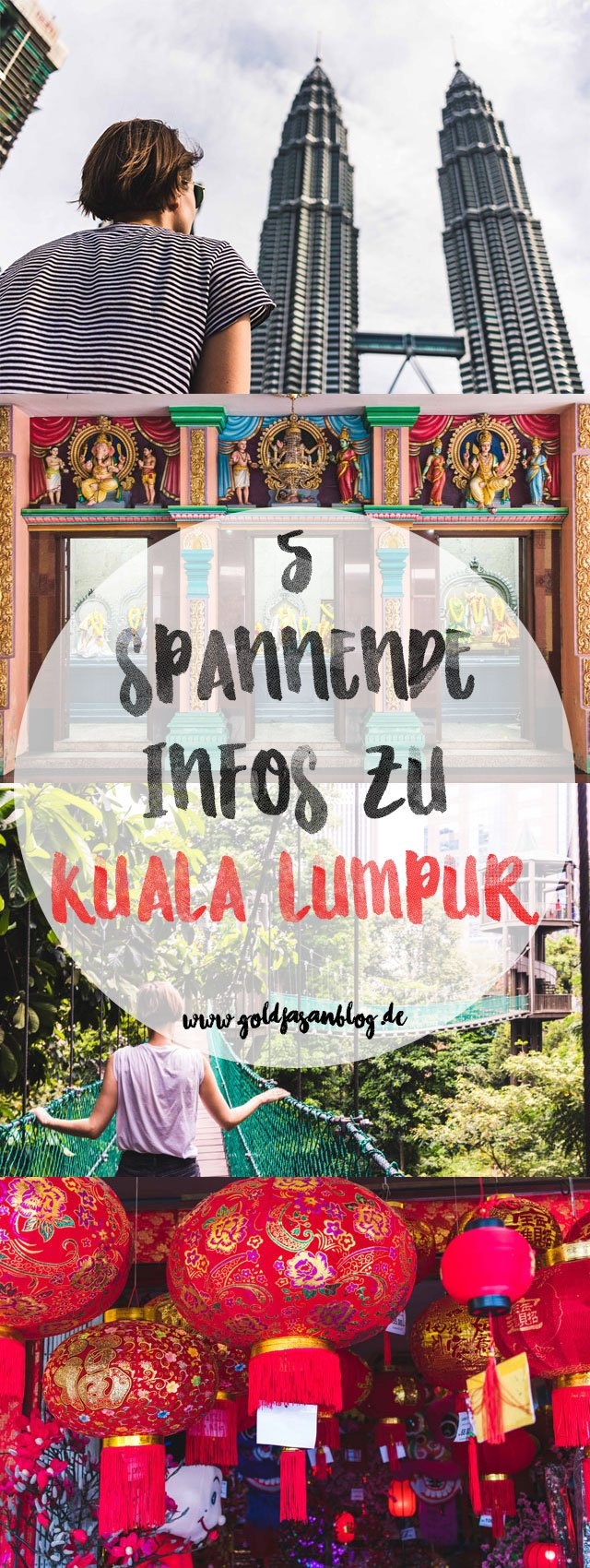 Collage mit Infos zu Kuala Lumpur