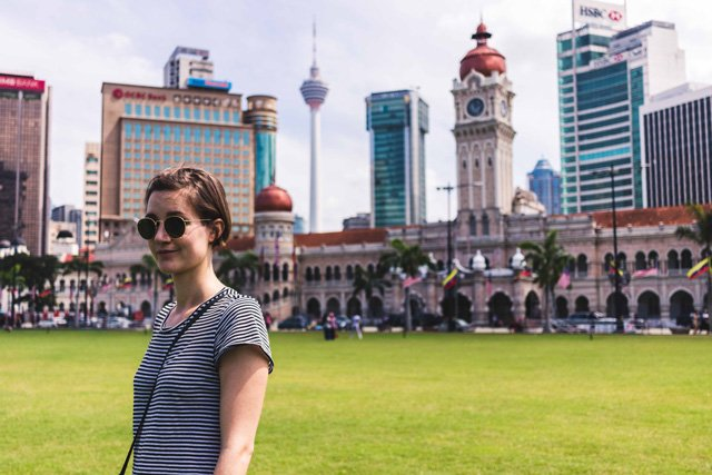 Am Merdeka Square in Kuala Lumpur