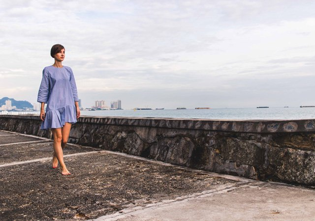 Outfit an der Promenade vom Penang