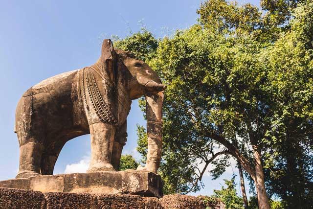 Elefant am Pre Rup Tempel