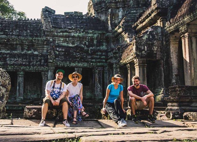 Familienausflug nach Angkor Wat